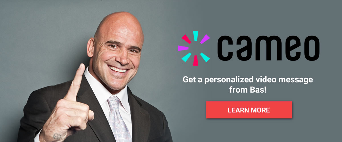 Get a personalized video message from Bas Rutten!